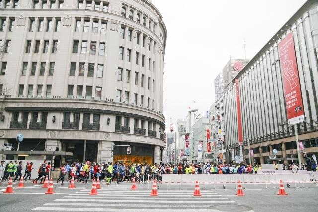 東京マラソン 晴海通り